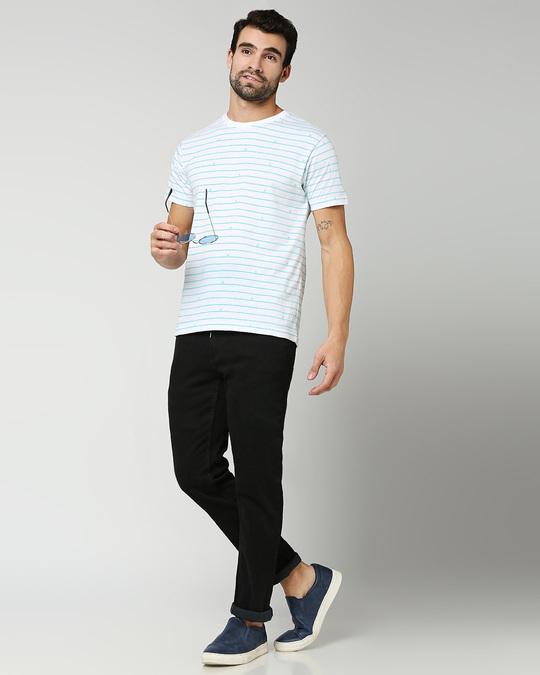 Shop Surfing Stripe Half Sleeve AOP T-Shirt