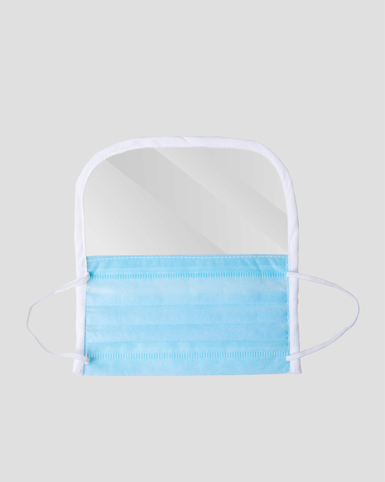 Shop Surgical Mask with Face Shield - Pack of 10-Back