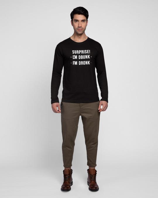 Shop Surprise Im Drunk Full Sleeve T-Shirt (Hidden Message)