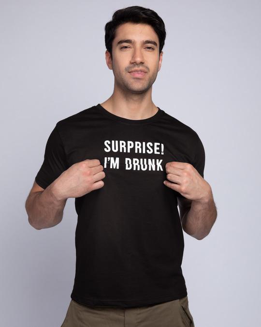 Shop Surprise Im Drunk Half Sleeve T-Shirt (Hidden Message)-Design