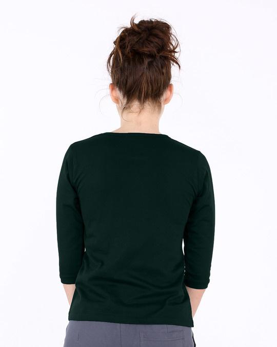 Shop Swabhaav Round Neck 3/4th Sleeve T-Shirt-Full