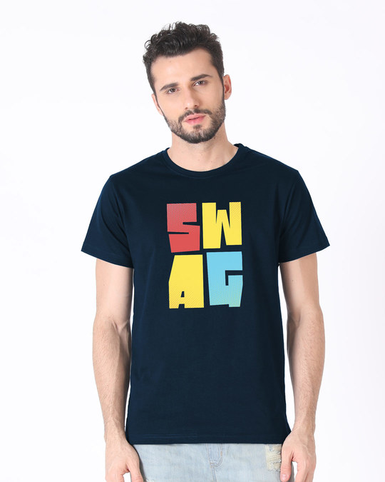 Shop Swag Colourful Half Sleeve T-Shirt-Back