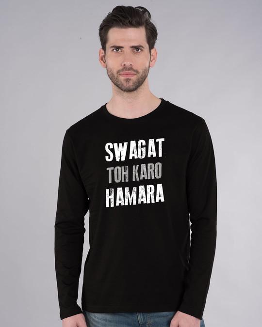 Shop Swagat Toh Karo Hamara Full Sleeve T-Shirt-Front