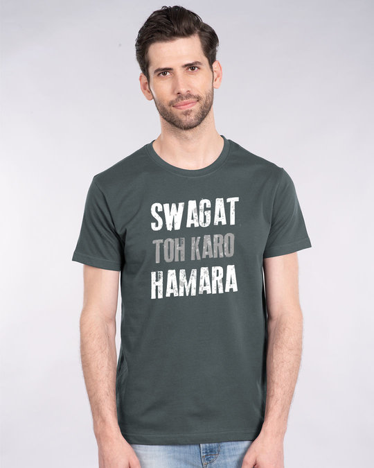 Shop Swagat Toh Karo Hamara Half Sleeve T-Shirt-Front