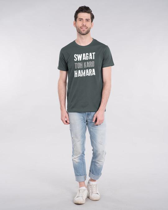 Shop Swagat Toh Karo Hamara Half Sleeve T-Shirt-Design
