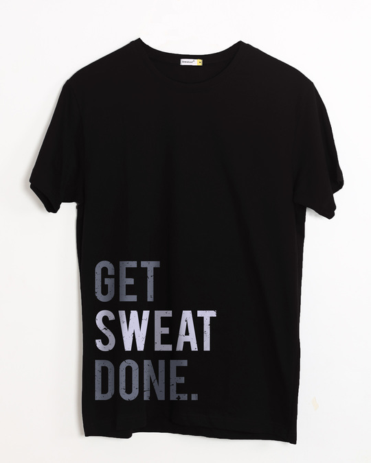 Shop Sweat Done Half Sleeve T-Shirt-Front