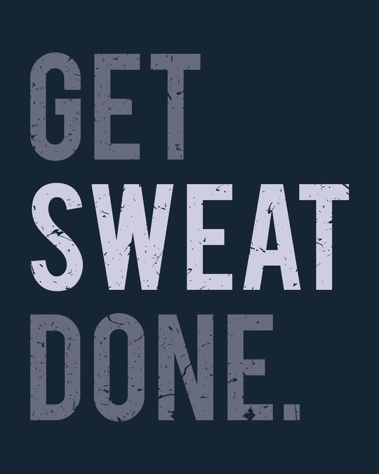 Shop Sweat Done Half Sleeve T-Shirt
