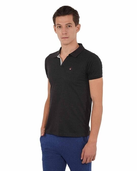 Shop Mens Pq Men's T Shirt With Collar-Back