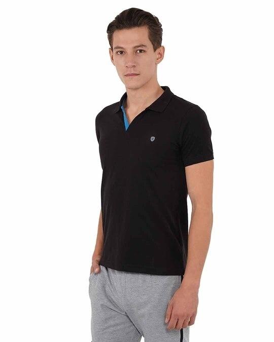 Shop Mens Pq Men's T Shirt With Collar-Back
