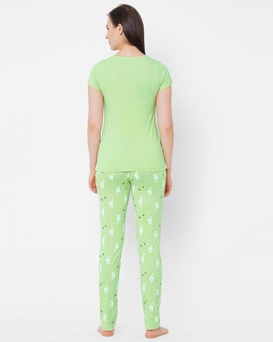 Shop Pista Green Printed  Pyjama Sets-Design