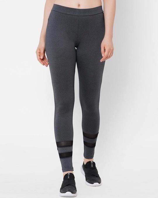 Shop Charcoal Solid Pyjama-Front