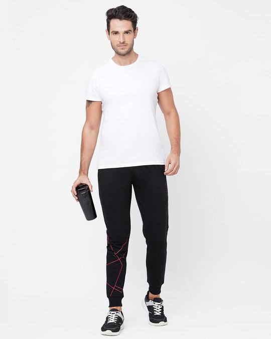 Shop Black Solid Pyjama-Full