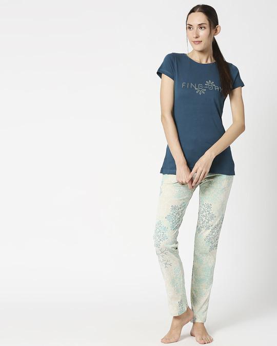 Shop Sweet Dreams Women's Snowflake Top & Pajama Set-Full