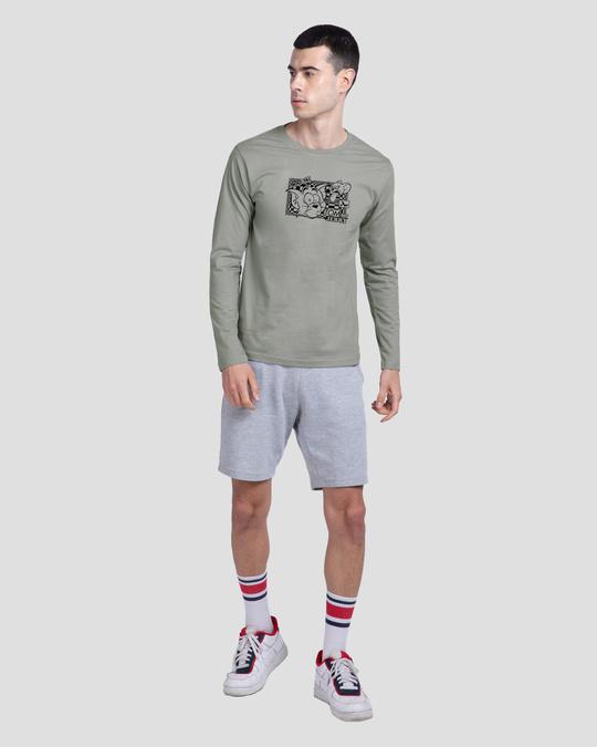 Shop T&J Glitch Men's Printed Full Sleeve T-Shirt (TJL)-Design