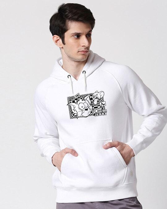 Shop T&J Glitch Men's Printed Hoodie Sweatshirt AW20 (TJL)-Front