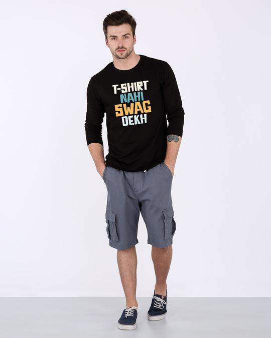 Shop T-shirt Nahi Swag Dekh Full Sleeve T-Shirt-Full