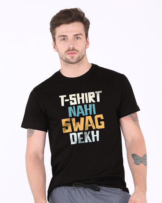 Shop T-shirt Nahi Swag Dekh Half Sleeve T-Shirt-Back