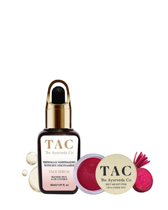 Shop Beet Lip & Cheek Tint and 10 Niacinamide Face Serum-Front