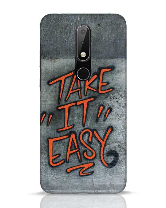 Shop Take It Easy Grafltti Nokia 6.1 Plus Mobile Cover-Front