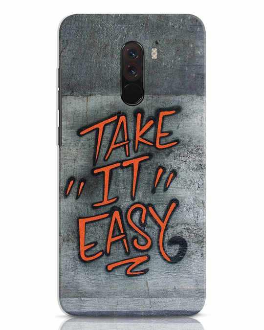 Shop Take It Easy Grafltti Xiaomi POCO F1 Mobile Cover-Front
