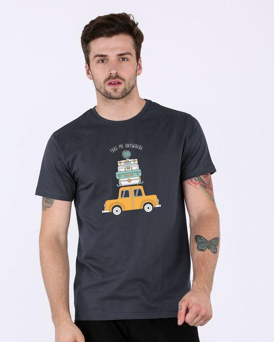 Shop Anywhere Half Sleeve T-Shirt-Back