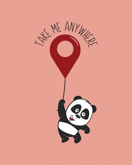 Shop Take Me Anywhere Panda Full Sleeve T-Shirt