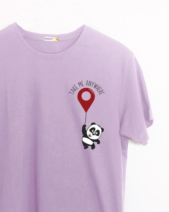 Shop Take Me Anywhere Panda Half Sleeve T-Shirt-Back