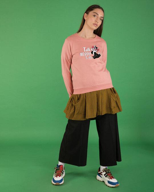 Shop Talk Nerdy To Me Fleece Light Sweatshirts (LTL)-Design