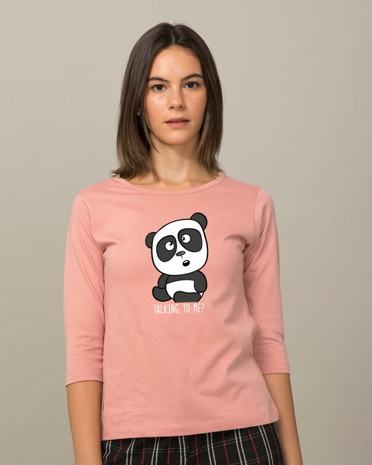 Shop Talking To Me Round Neck 3/4th Sleeve T-Shirt-Front
