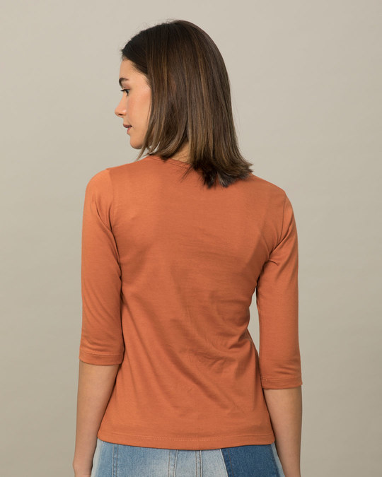 Shop Talking To Me Round Neck 3/4th Sleeve T-Shirt-Full