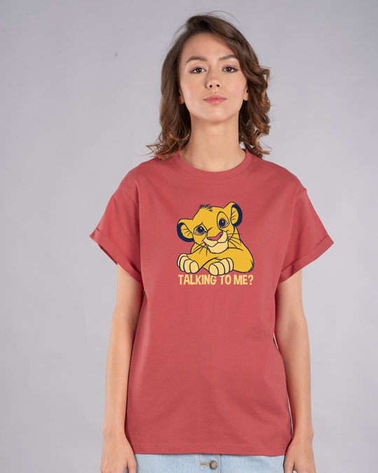 Shop Talking To Simba Boyfriend T-Shirt (DL)-Front