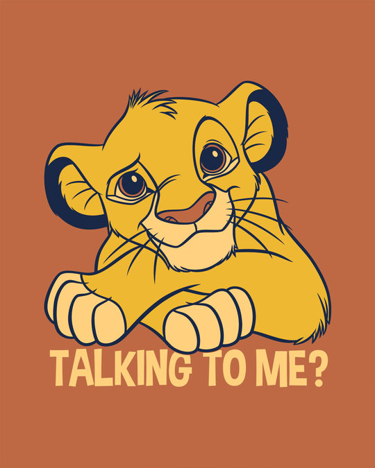 Shop Talking To Simba Half Sleeve T-Shirt (DL)-Full