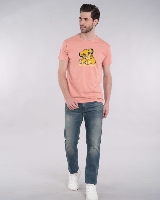 Shop Talking To Simba Half Sleeve T-Shirt (DL)-Design