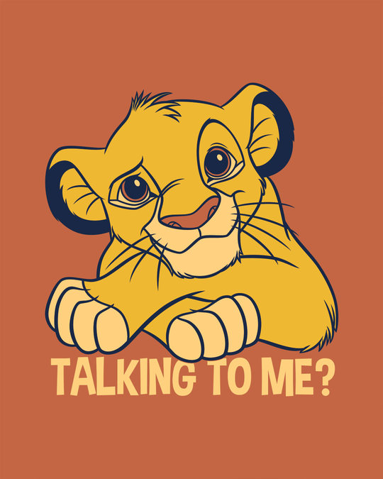 Shop Talking To Simba Round Neck 3/4th Sleeve T-Shirt (DL)-Full
