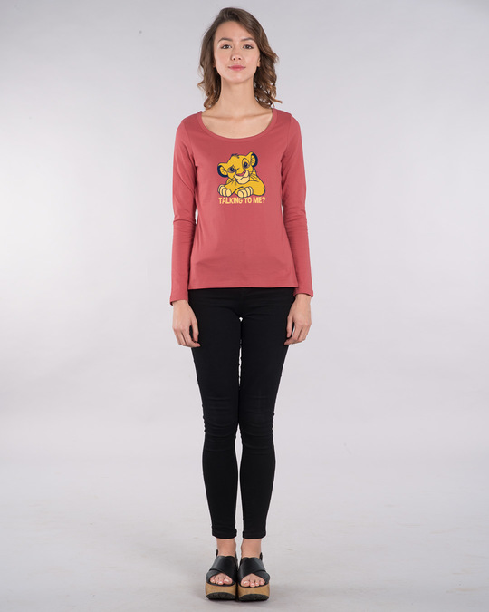 Shop Talking To Simba Scoop Neck Full Sleeve T-Shirt (DL)-Design