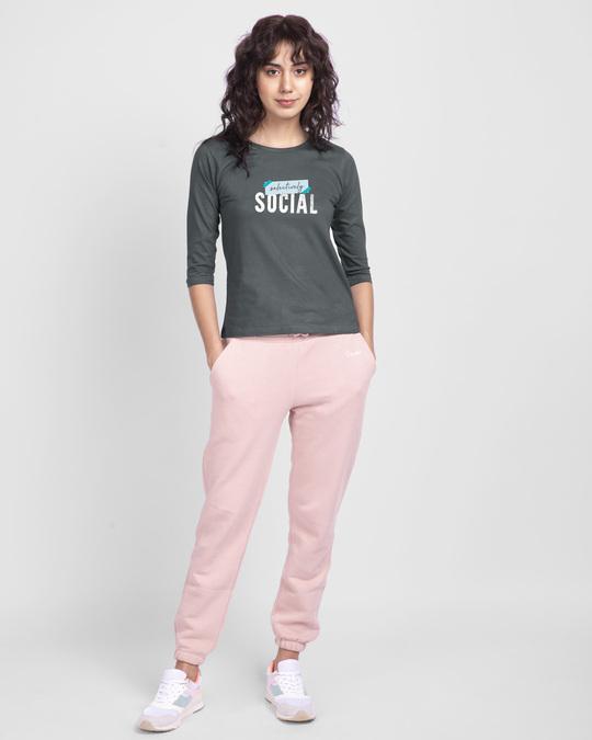 Shop Tape Social Round Neck 3/4th Sleeve T-Shirt-Design