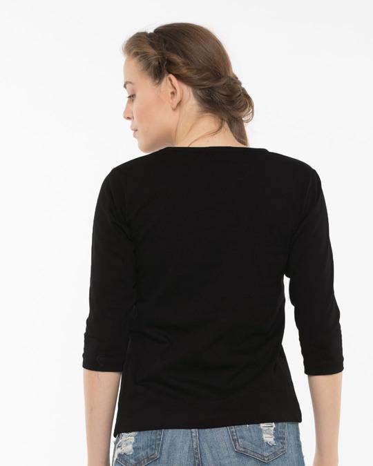 Shop Tarat Round Neck 3/4th Sleeve T-Shirt-Back