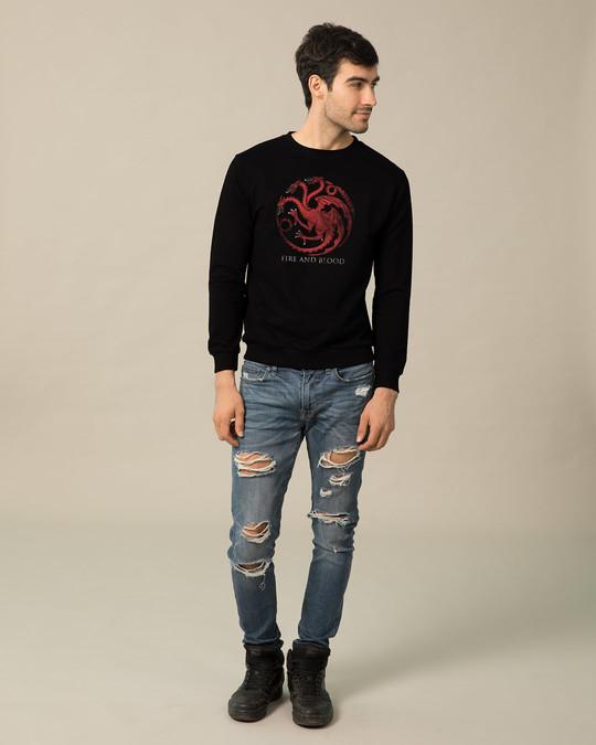 Shop Targaryen Fire And Blood Fleece Light Sweatshirt (GTL)-Design