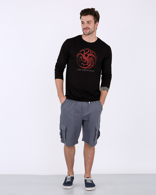 Shop Targaryen Fire And Blood Full Sleeve T-Shirt (GTL)-Design