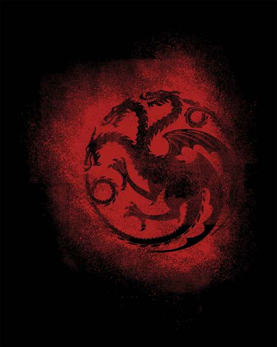 Shop Targaryen Grunge Full Sleeve T-Shirt (GTL)