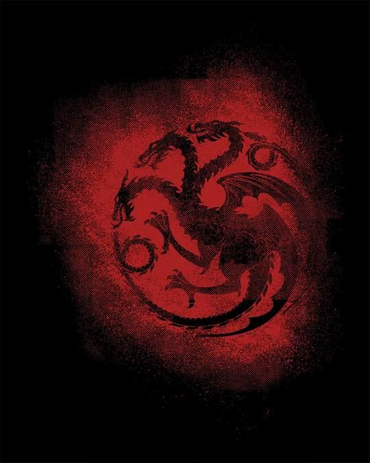 Shop Targaryen Grunge Half Sleeve T-Shirt (GTL)