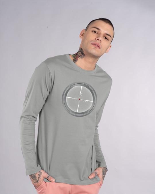 Shop Target Fire Full Sleeve T-Shirt-Back