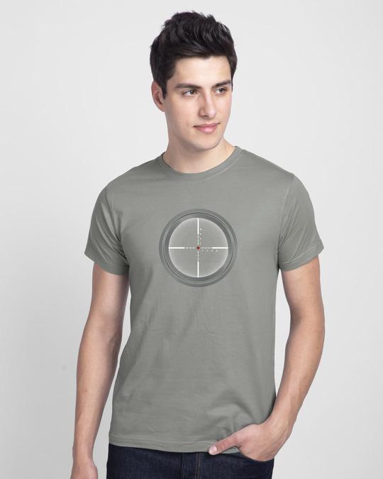 Shop Target Fire Half Sleeve T-Shirt-Back