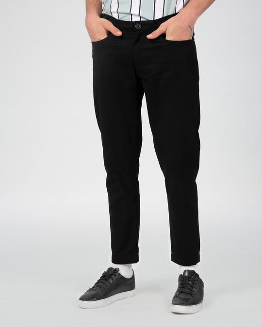 Shop Taupe Black Pants-Front