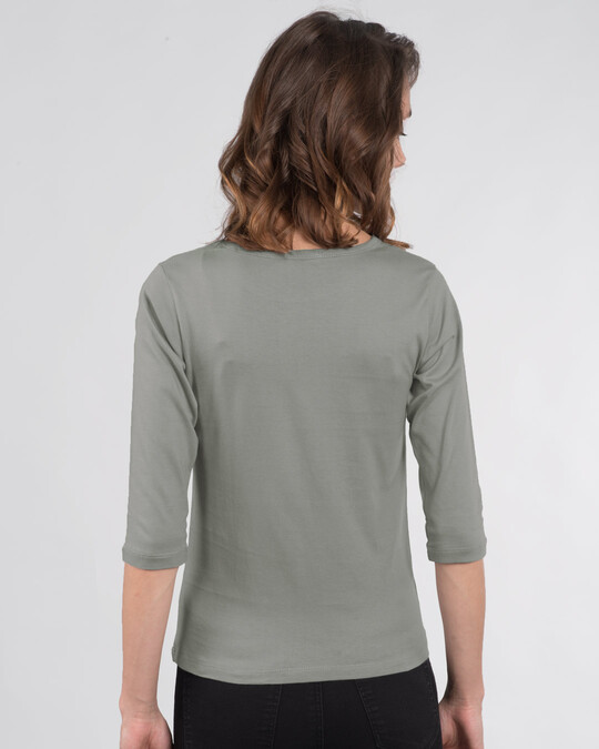 Shop Te-quila Round Neck 3/4th Sleeve T-Shirt-Back