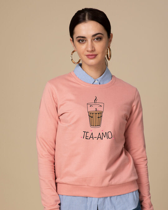 Shop Tea-amo Fleece Light Sweatshirt-Front