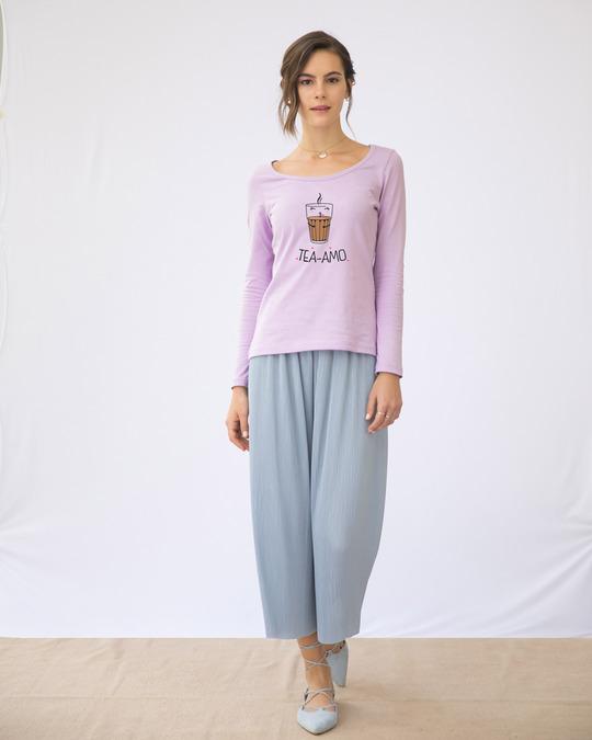 Shop Tea-amo Scoop Neck Full Sleeve T-Shirt-Design