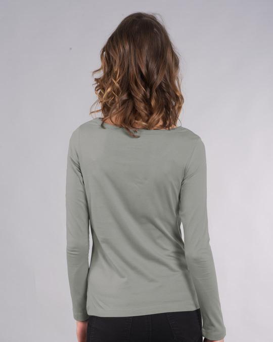 Shop Tea-amo Scoop Neck Full Sleeve T-Shirt-Back