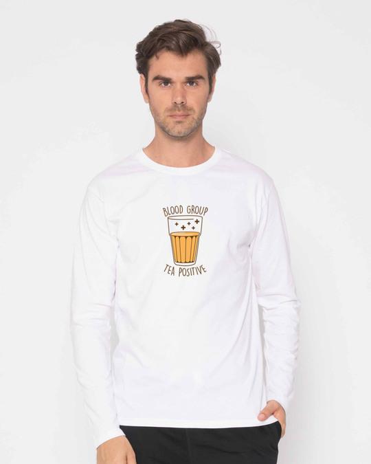 Shop Tea Positive Full Sleeve T-Shirt-Front