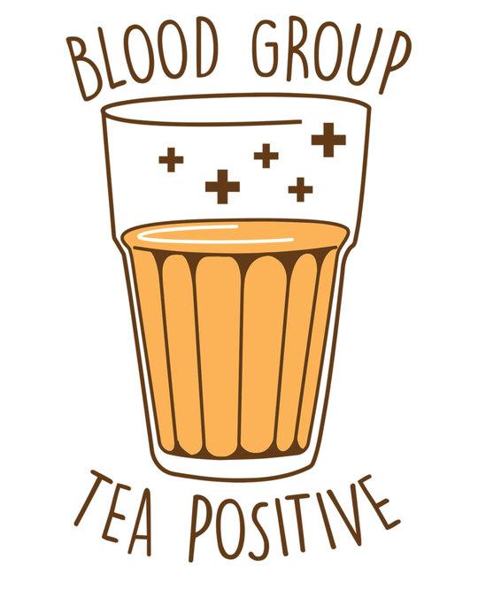 Shop Tea Positive Half Sleeve T-Shirt